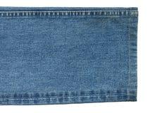 Jeans mit Naht Lizenzfreie Stockbilder