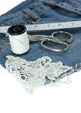 Jeans mit Spitze Stockfoto
