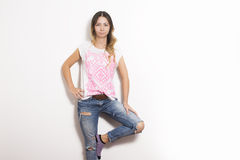 Jeans miteux image stock