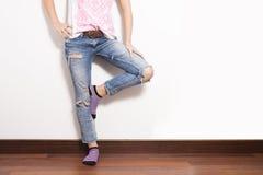 Jeans miteux Photographie stock libre de droits