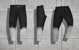 Jeans mockup set Royalty Free Stock Photo