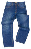 Jeans, modieuze jeans op blackground Stock Afbeeldingen