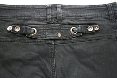 Jeans neri Fotografia Stock