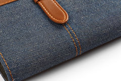 Jeans notebook Stock Images