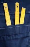 Jeans och hjälpmedel Arkivbild