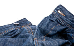 Jeans with open zipper Stock Photo