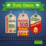 Jeans Ostern Sale 3 Carton Price Stickers Ribbon Royalty Free Stock Images