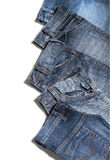 Jeans pants. Composition made by jeans pants Stock Image