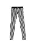 Jeans Pants with black ans white stripes, isolated on white back Stock Image
