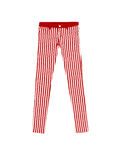 Jeans Pants wiht red and white Stripes, isolated on white backgr. Ound Royalty Free Stock Photos