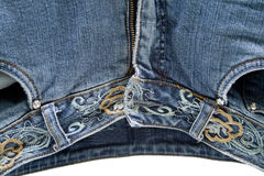 Jeans pants with zipper Stock Photography
