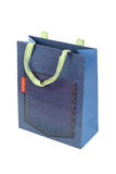 Jeans paper bag Stock Image