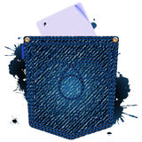 Jeans paper icon Royalty Free Stock Image