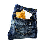 Jeans with paper Royalty Free Stock Images