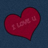 Jeans Patch Valentine Royalty Free Stock Photography