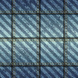 Jeans patchwork with diagonal grunge strikes. Seamless background pattern. Jeans patchwork with diagonal grunge strikes Stock Image