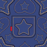 Jeans pattern Stock Images