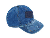 Jeans peaked cap Stock Photo