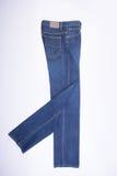 jeans per gli uomini o le blue jeans su un fondo Fotografie Stock Libere da Diritti