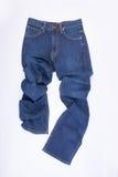 jeans per gli uomini o le blue jeans su un fondo Immagini Stock Libere da Diritti