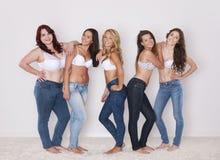 Jeans per ognuno Fotografia Stock Libera da Diritti