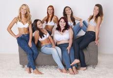 Jeans per ognuno Immagini Stock Libere da Diritti