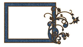 Jeans picture frame for photos Stock Image