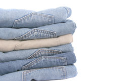 Jeans piegati Fotografia Stock
