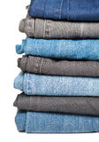 Jeans pile Stock Photos
