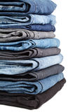 Jeans pile Stock Photography