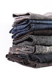 Jeans pile detail Royalty Free Stock Photography