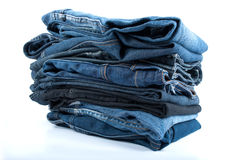 Jeans pile Royalty Free Stock Images
