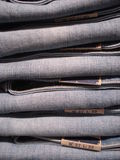 Jeans pile Royalty Free Stock Photography