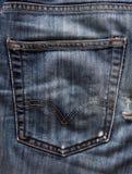 Jeans pocket. Close-up shot Royalty Free Stock Photos