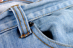 Jeans with pocket. Closeup of blue jeans with pocket royalty free stock photo