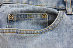 Jeans Pocket. Isolated close up Royalty Free Stock Image