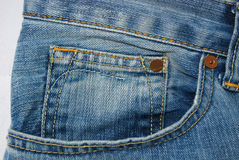 Jeans pocket. Foto of a Jeans pocket Stock Photos