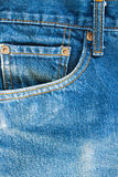 Jeans pocket. Blue Jeans pocket,possible to use background Stock Image
