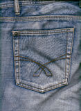 Jeans pocket. Blue jeans pocket scan high resolution Stock Images