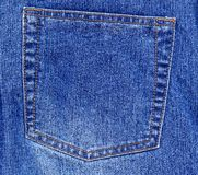 Jeans pocket, Royalty Free Stock Photography