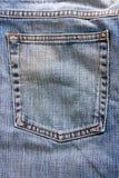 Jeans pocket. Macro studio shot of close up of jeans back pocket stock image