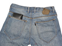 Jeans pocket. Back Rear View stock photo