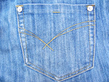 Jeans Pocket. Background of blue jeans pocket royalty free stock photos