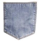 Jeans pocket. On white background Royalty Free Stock Photo