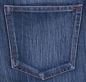 Jeans pocket. Close up blue jeans pocket Stock Images
