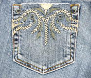 Jeans Pocket. Details of a fancy jeans pocket royalty free stock photos