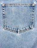 Jeans Pocket. A plain light blue denim jeans pocket stock image