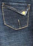 Jeans Pocket. A stylish blue denim jeans pocket stock photos