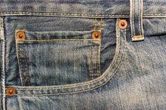 Jeans Pocket. Pocket of blue jeans. Close-up Royalty Free Stock Image