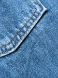 Jeans pocket. Detail of a pocket in a blue jeans pants stock photos